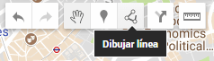 Dibujar línea en el mapa de Google My Maps.