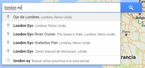 Buscar elementos para añadir al mapa de Google My Maps.