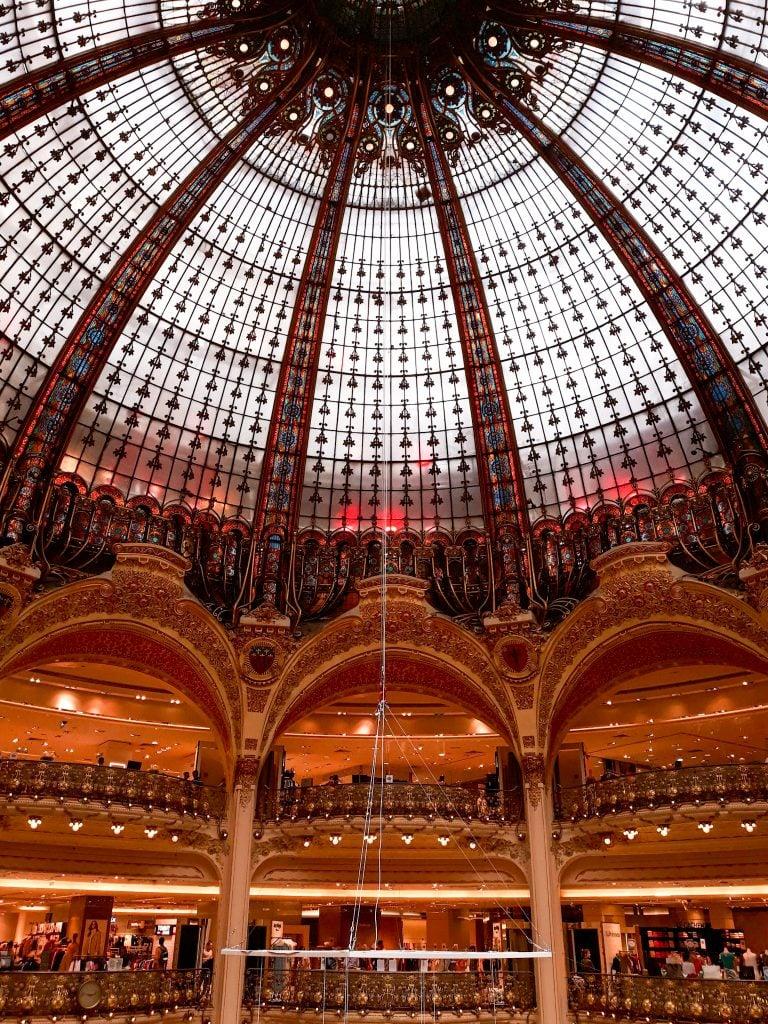 Cúpula de cristal de las Galerias Lafayette.