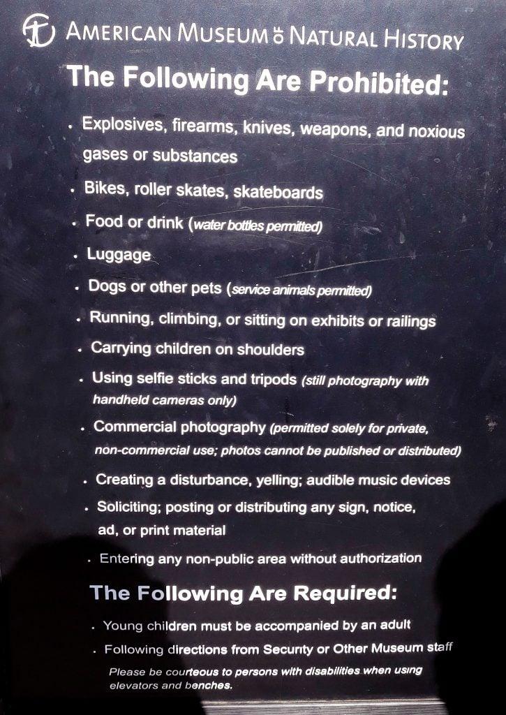 Normas del Museo Americano de Historia Natural
