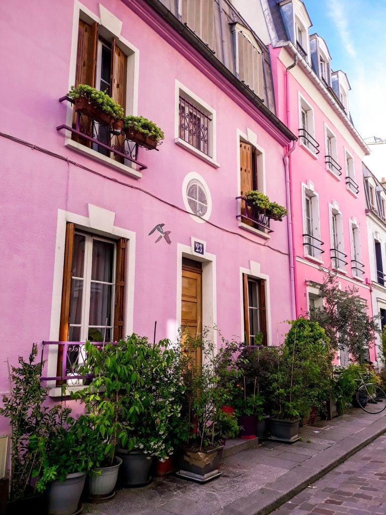 Rue Cremieux en el centro de París que ver en 4 o 5 dias