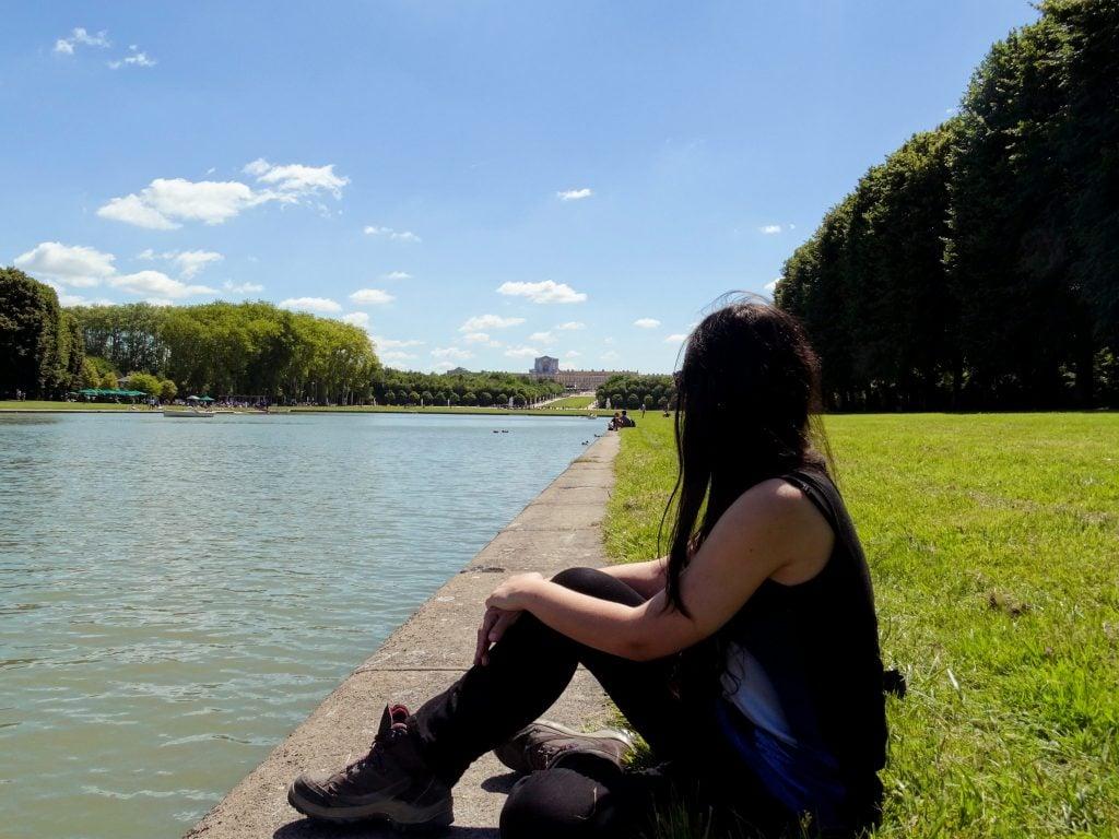 Vistas de Versalles desde los Jardines.