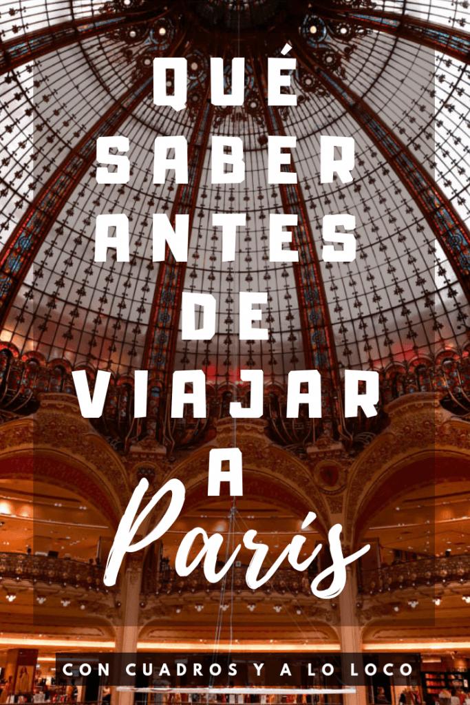 Pin de Pinterest sobre Qué saber antes de viajar a París de Con cuadros y a lo loco
