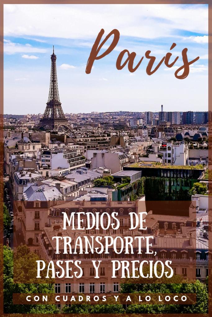 Pin para Pinterest sobre Transporte en París de Con cuadros y a lo loco