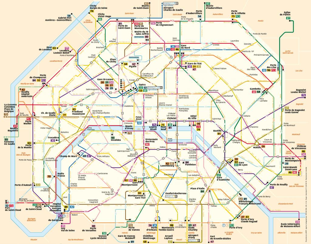 Mapa de buses de París
