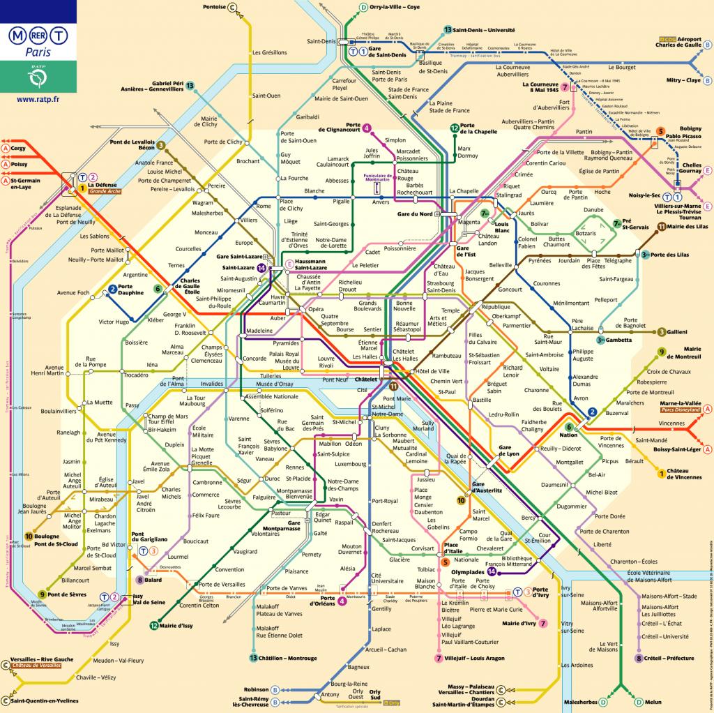 Plano de metro de París