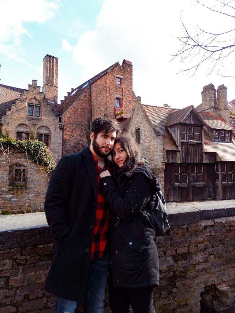 Foto de pareja en Brujas
