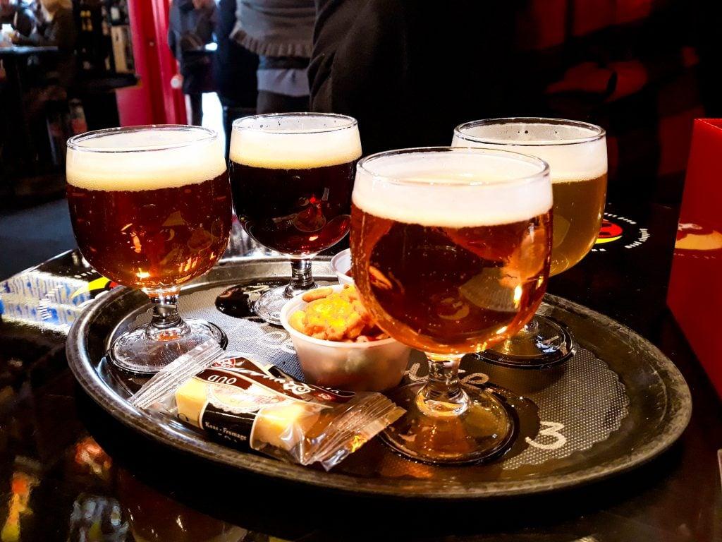 Cata de cervezas belgas en Brujas
