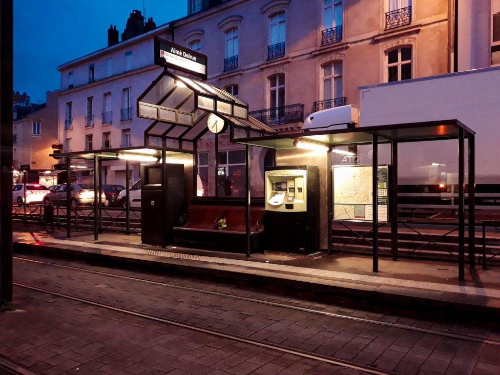 Tranvía en Nantes
