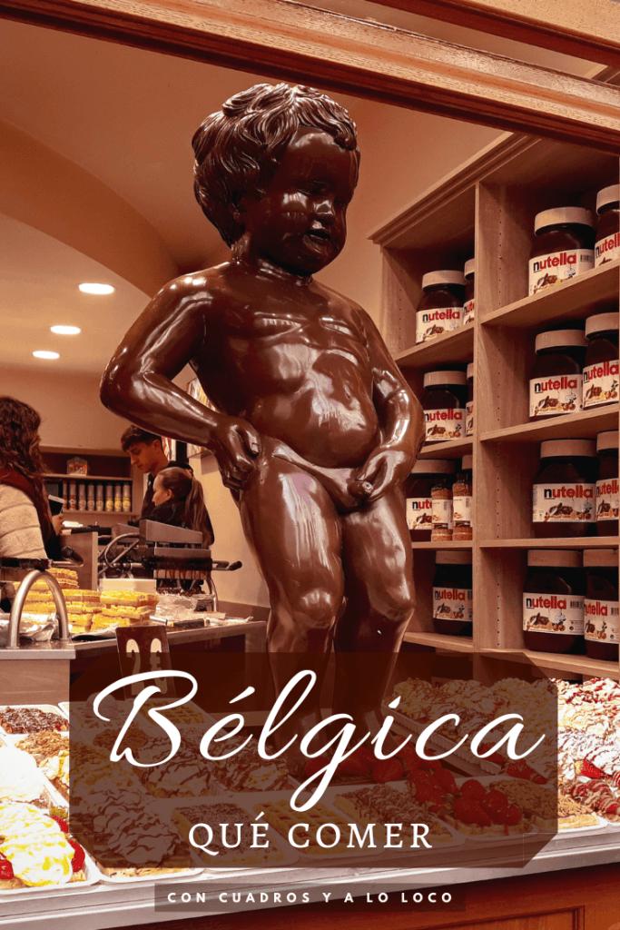 Pin para Pinterest sobre qué comer en Bélgica de Con cuadros y a lo loco