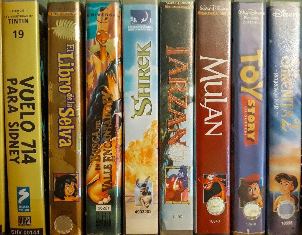 VHS películas animación