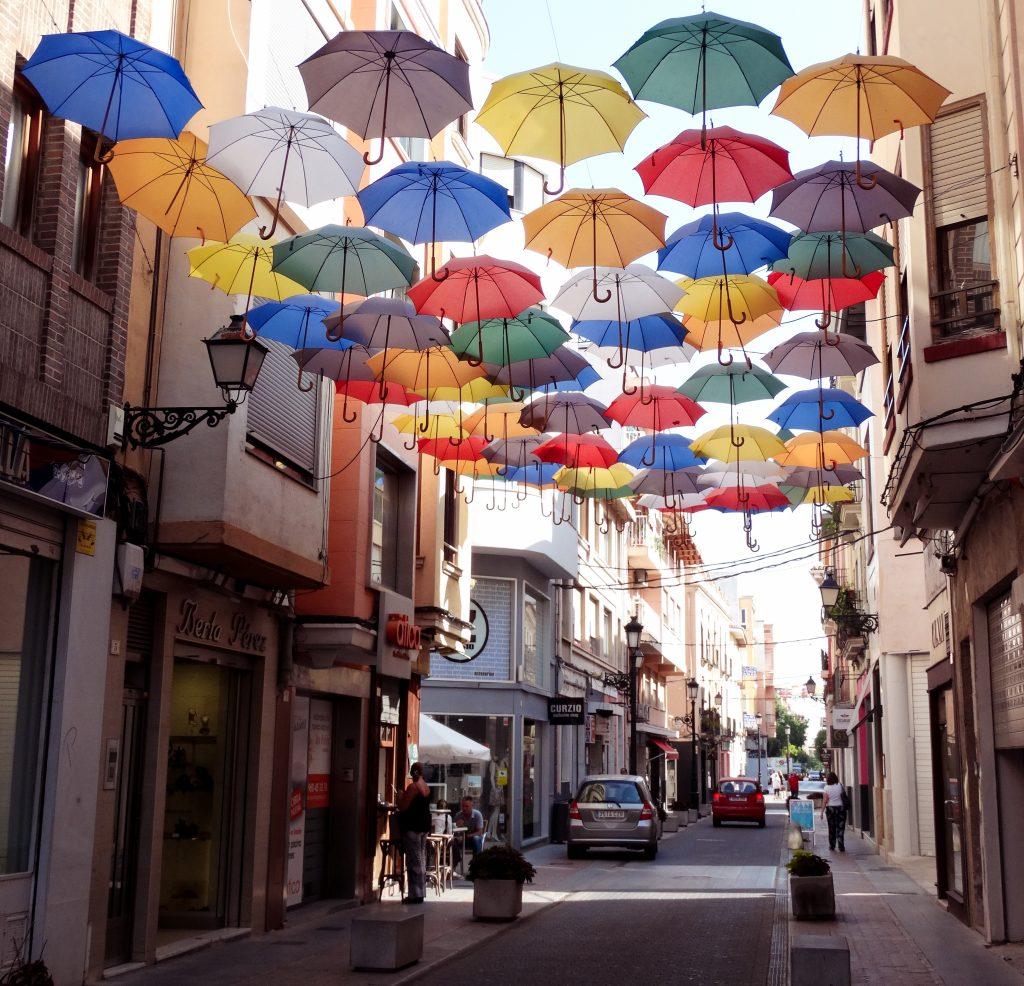 Paraguas colores Gandía
