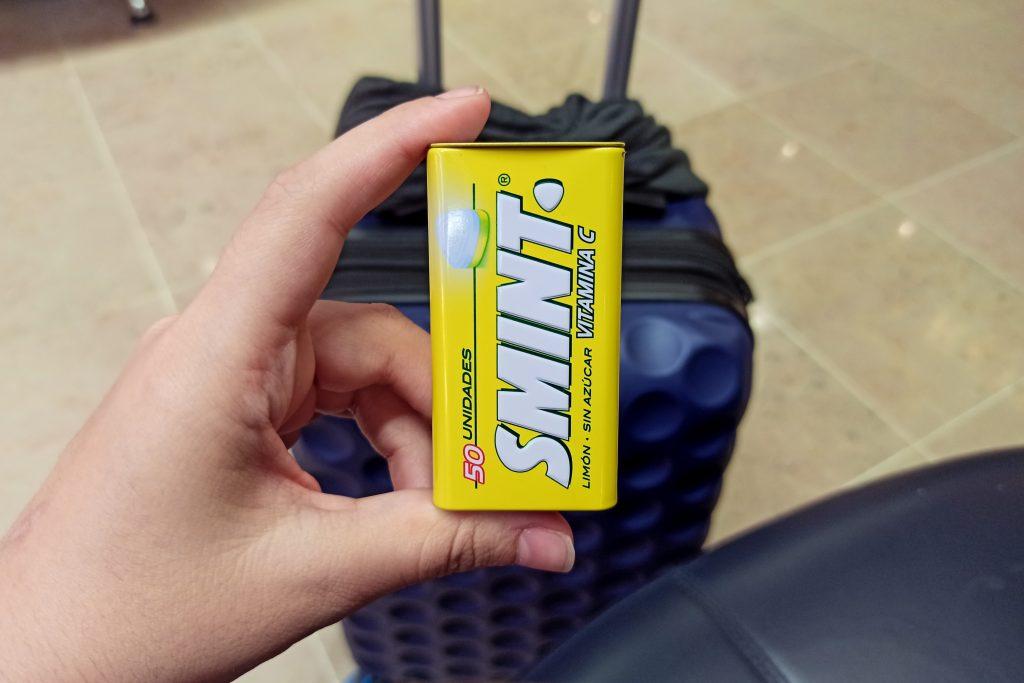 Smint de limón para viajar