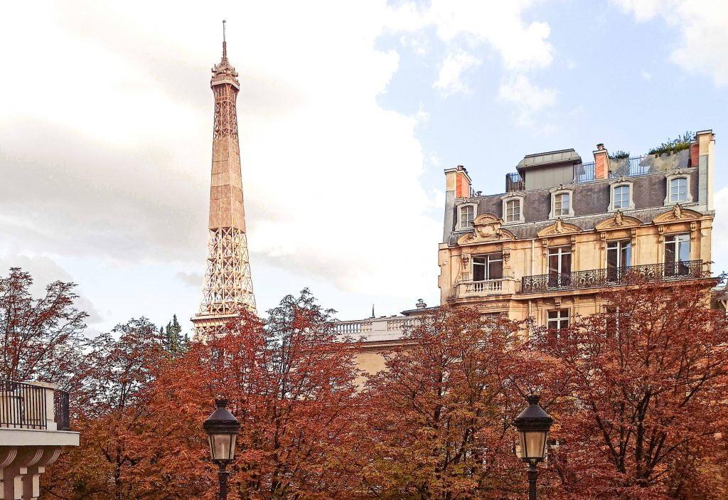 Vistas a la Torre Eiffel París