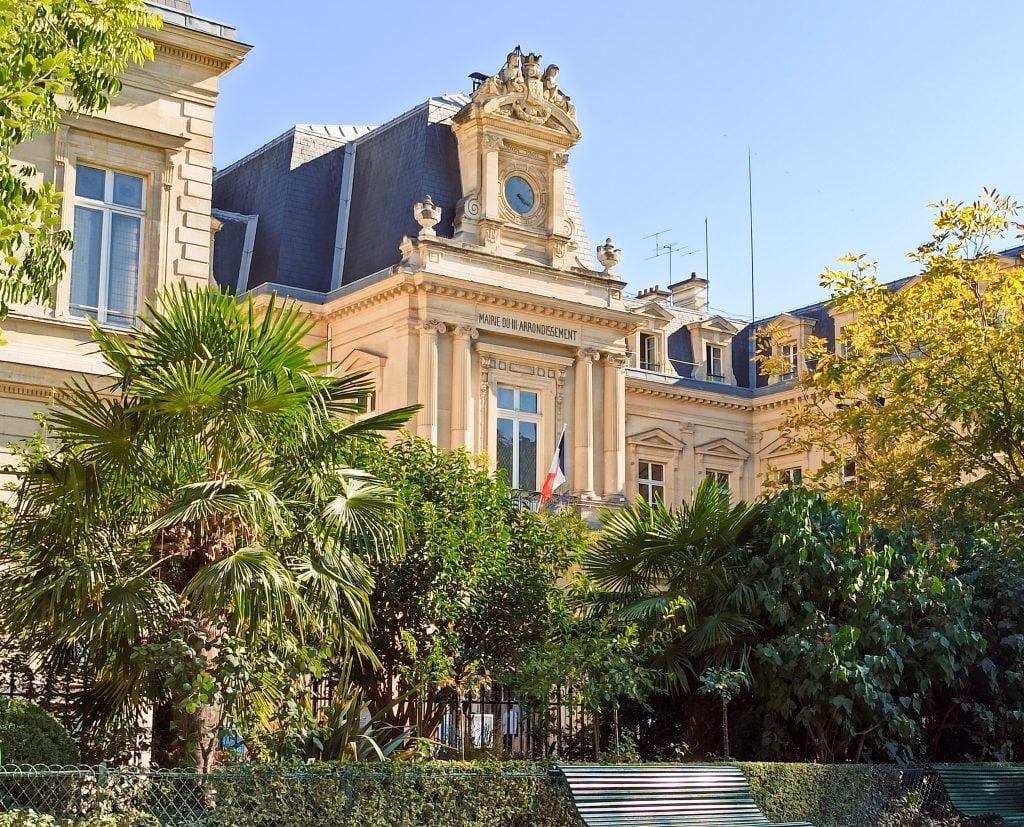 Square du temple distrito III París