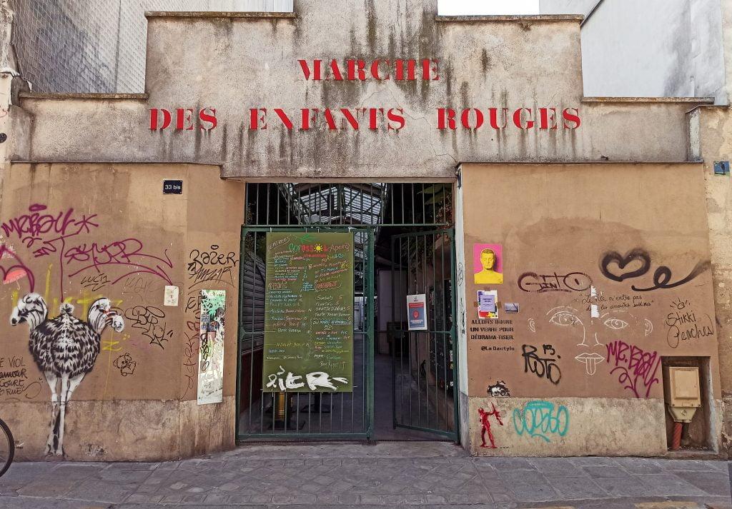 Mercado de los niños rojos París Distrito III