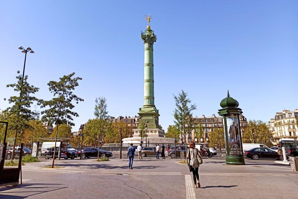Plaza de la Bastilla Distrito IV de París