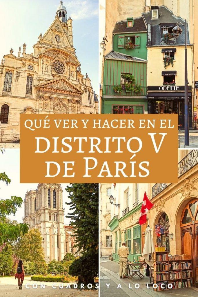 Pin sobre qué ver en el Distrito V de París de Con cuadros y a lo loco