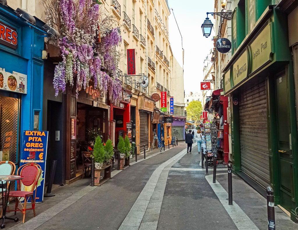 Rue de la Huchette distrito V parís
