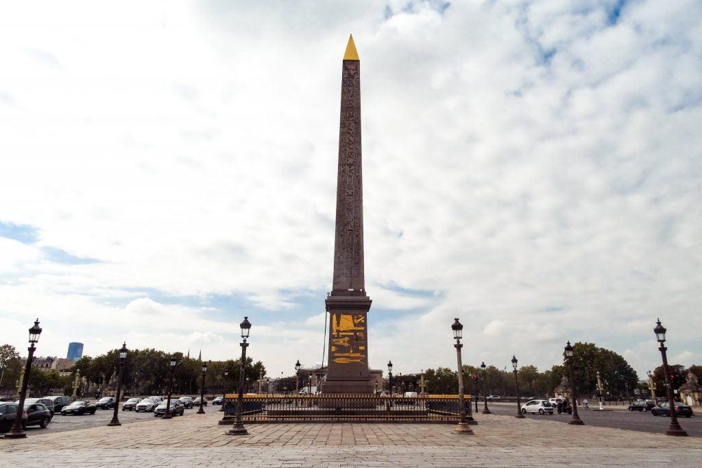 Obelisco de Luxor en la plaza de la Concordia, París Distrito VIII